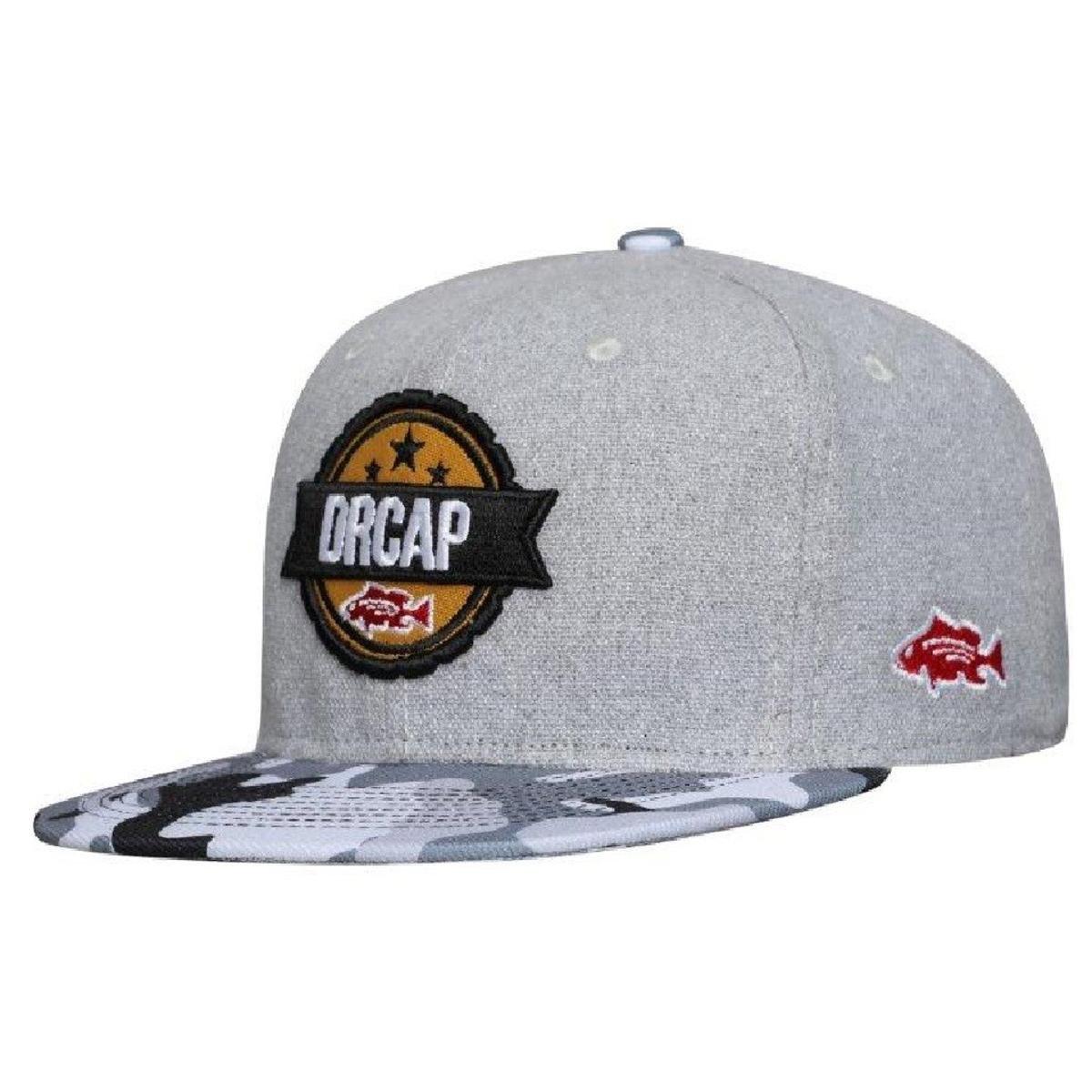 Boné Snapback Drcap - Cinza - Compre Agora  1481bb6842a