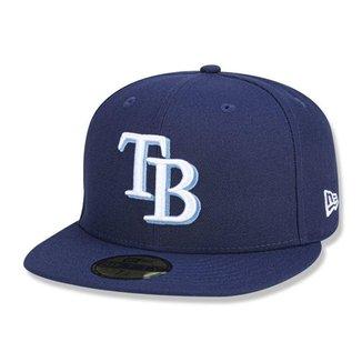 Boné Tampa Bay Rays 5950 Game Cap Fechado Marinho - New Era