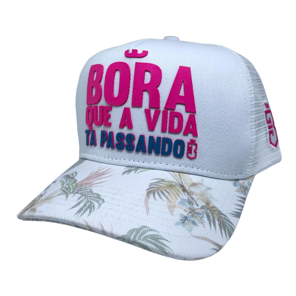 Boné Trucker Bora Floral - Compre Agora  924bad4a28b