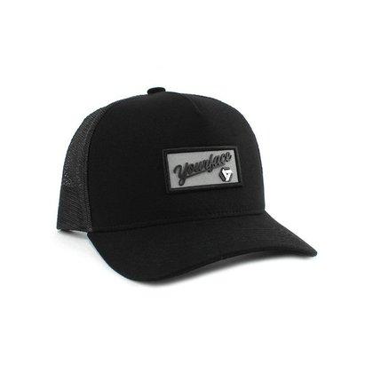Boné Your Face Trucker Reflex Premium Snapack Unissex Aba Curva Dad Hat Com Ajuste