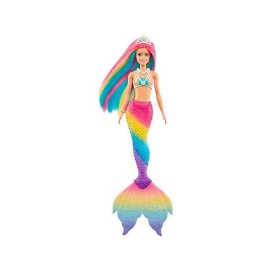 Boneca Barbie Dreamtopia Sereia Muda de Cor Mattel - Colorido