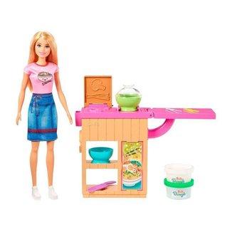 Boneca Barbie Profissões Conjunto Chef de Macarrão