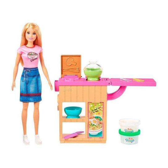 Boneca Barbie Profissões Conjunto Chef de Macarrão - Colorido