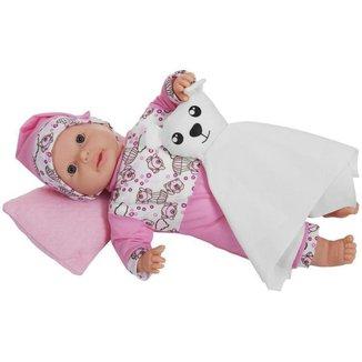 Boneca Dorme Baby com Acessórios