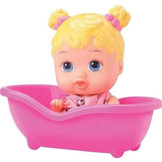 Boneca Little Dolls Banheirinha Divertoys Loira -