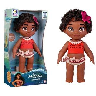 Boneca Moana Infantil Princesa Bebê Disney Macia Feita Em Vinil