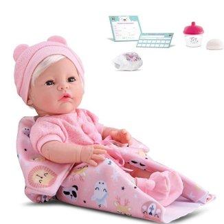 Boneca New Born Premium Menina Divertoys Ref.8153