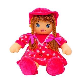 Boneca Pink Círculos Com Chapéu 60cm