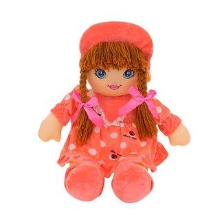 Boneca Rosa Círculos Com Chapéu 60cm
