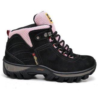 Bota Adventure Couro Nobuck Ultra Trekking Stop Boots feminina
