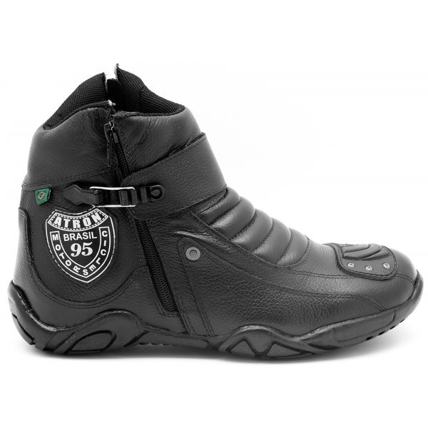 Motociclista Couro Couro Bota Motociclista Atron Preto Motociclista Atron Preto Bota Shoes Bota Shoes Shoes Atron OwaYwE
