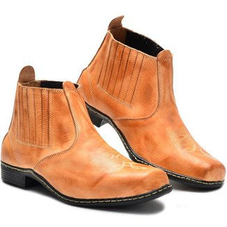 Bota Botina Country Masculina Couro Mr Try Shoes