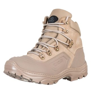 Bota Cano Curto Militar Tatica Desert Lancamento Pro Confort Force Militar.