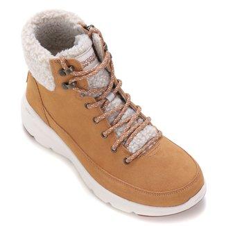 Bota Cano Curto Skechers Glacial Ultra Woodlands Feminina