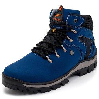 Bota Coturno Adventure Trekking Hikking Para Trilhas E Caminhadas Azul