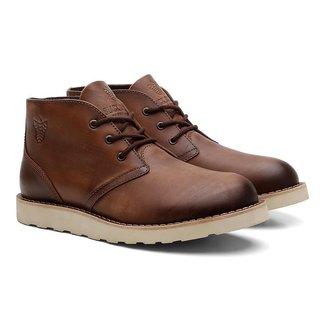 Bota Coturno Black Boots Couro Liso Cano Médio Casual