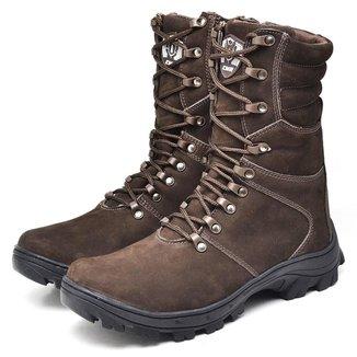Bota Coturno Couro Adventure Cano Longo Komet Cmr Shoes