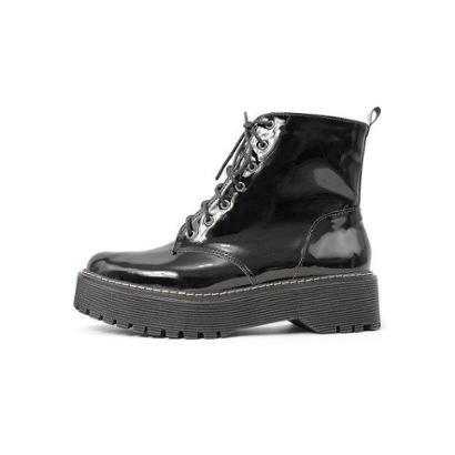 Bota Coturno Damannu Shoes Verniz Feminino - Feminino