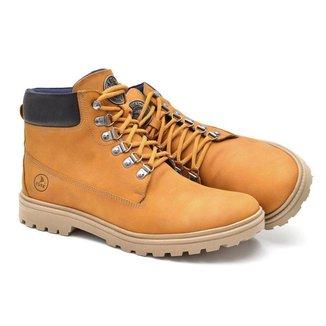 Bota Coturno Em Couro Masculina Yellow Boot Trekking