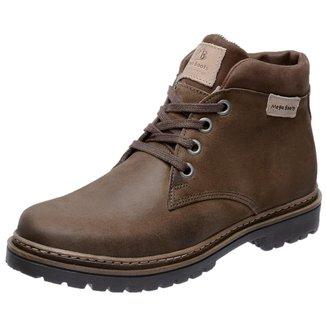 Bota Coturno Em Couro Mega Boots 6018 Chumbo-taupe