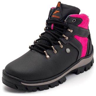 Bota Coturno Feminino Adventure Trekking Hikking Confortavel E Resistente