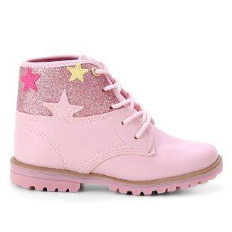 Bota Coturno Infantil Kidy Fashion Estrelas Feminina