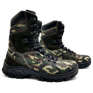 Bota Coturno Masculina Couro Semi-Impermeável Militar BM