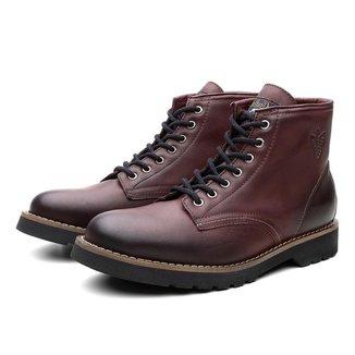 Bota Coturno Masculino Dublin Couro Casual Black Boots