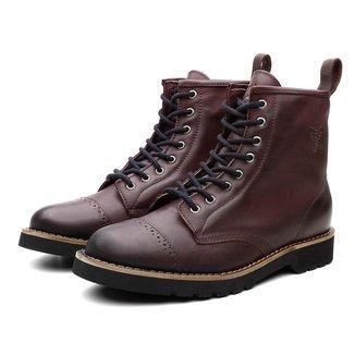 Bota Coturno Masculino London Couro Dia a Dia Black Boots