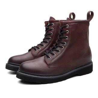 Bota Coturno Masculino Viena Couro Casual Leve Black Boots