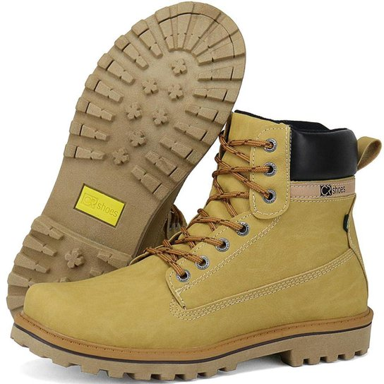 Bota Coturno SapatoFran Masculino - Amarelo