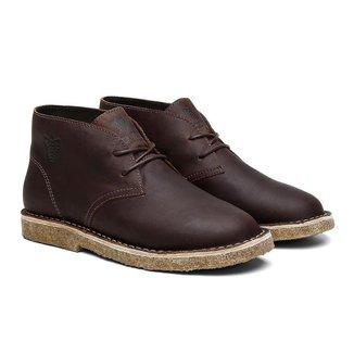 Bota Coturno Unissex Desert Boot Ohio Couro Black Boots