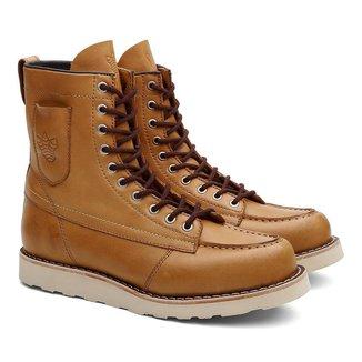 Bota Coturno Unissex Ohio Pocket Couro Cano Alto Black Boots