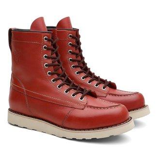 Bota Coturno Unissex Ohio SX Couro Cano Alto Black Boots