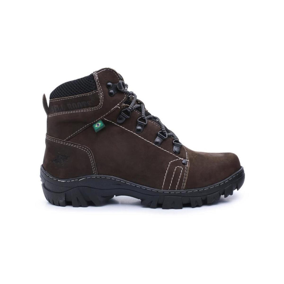 a34503aae95 Bota de Couro Nobuck Adventure Bell Boots Masculina - Chumbo - Compre Agora