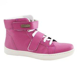 Bota de Treino Sneakers Fitness Feminina Couro Premium Quickon Max Style