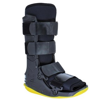 Bota Imobilizadora Kestal Exo Foot Curta Preta e Amarela