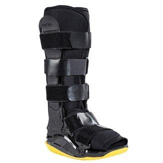 Bota Imobilizadora Kestal Exo Foot Longa Preta e Amarela