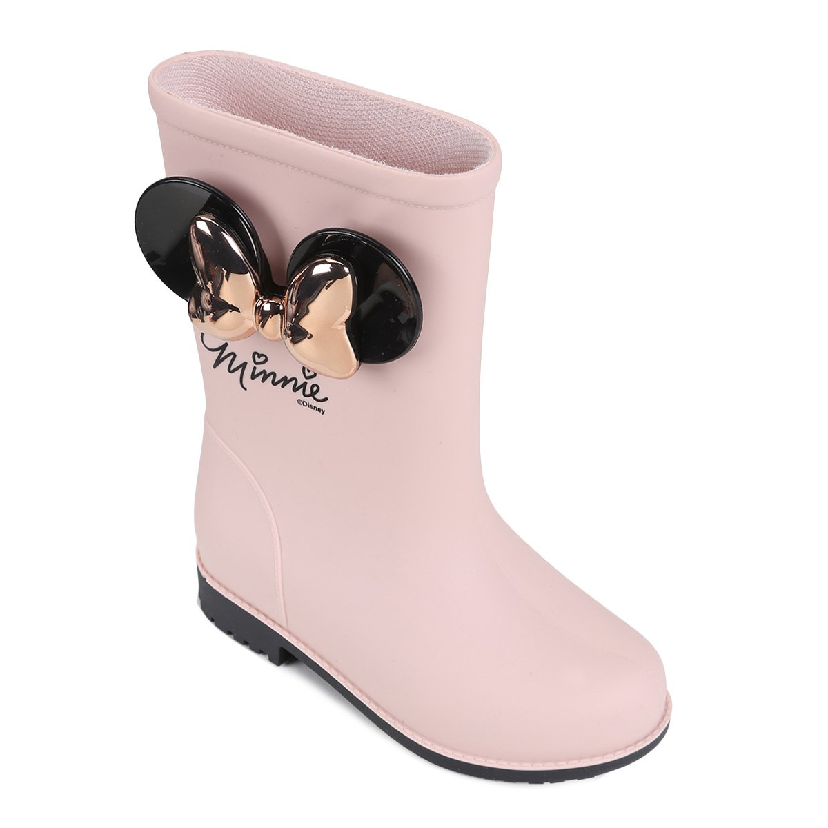 386d568efd3 Bota Infantil Galocha Grendene Disney Fashion Feminina - Rosa e Preto -  Compre Agora