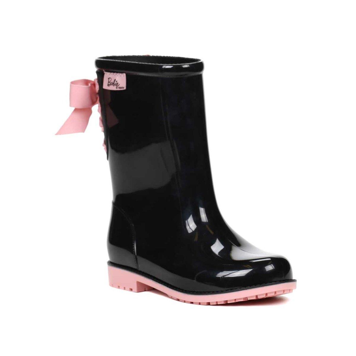 1a282428466 Bota Infantil Para Menina Barbie Galocha Power Fashion Rosa roxo - Compre  Agora