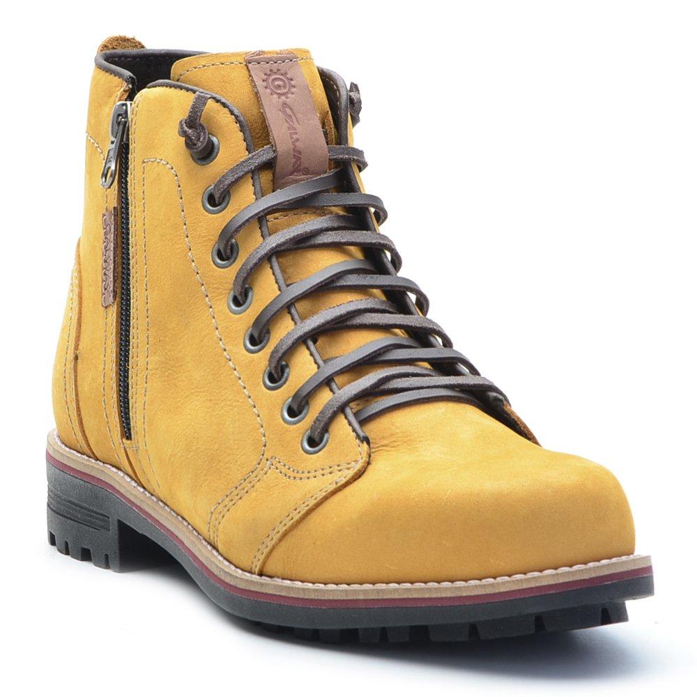 Escuro Casual Style Amarelo Lateral Masculina Bota Style Bota Casual Masculina Ziper w4BqvTvx