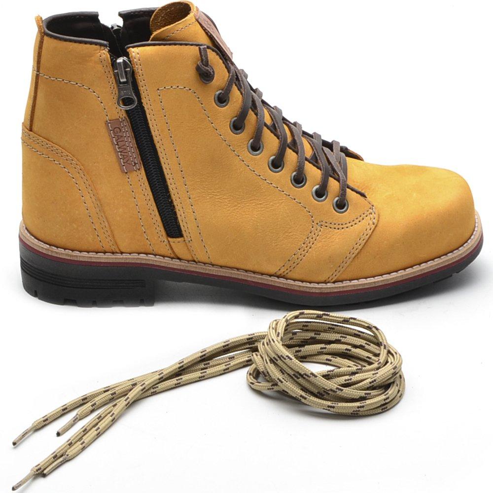 Style Amarelo Lateral Bota Masculina Casual Escuro Ziper Bota Masculina x0pqPwIP