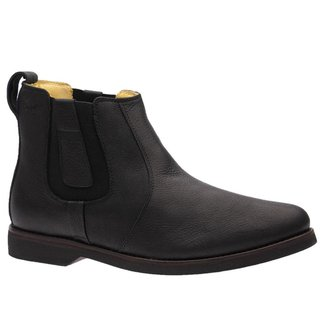 Bota Masculina Gel Anatômica em Couro Graxo Preto 8613 Doctor Shoes
