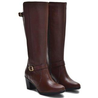 Bota Montaria Atron Shoes Feminina Couro Confortável