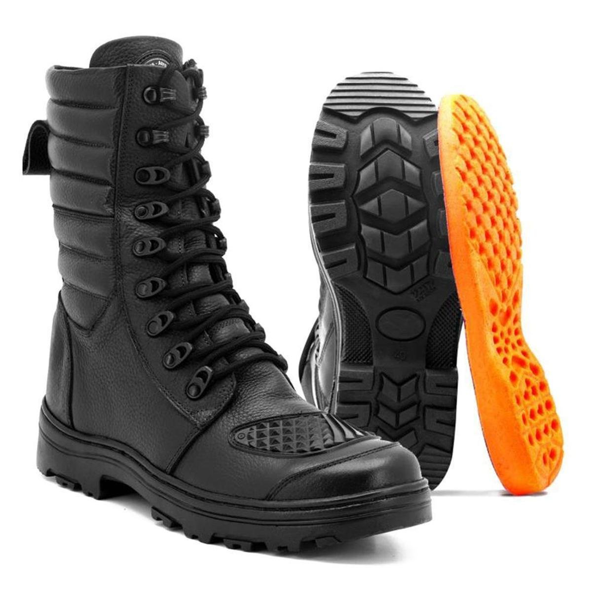 Bota Bota Atron Preto Motociclista Atron Shoes Shoes Motociclista Médio Cano Cano FRwqP1tIw