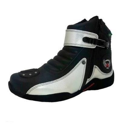 Bota Motociclista Cano Médio 100% Couro Atron Shoes - Unissex