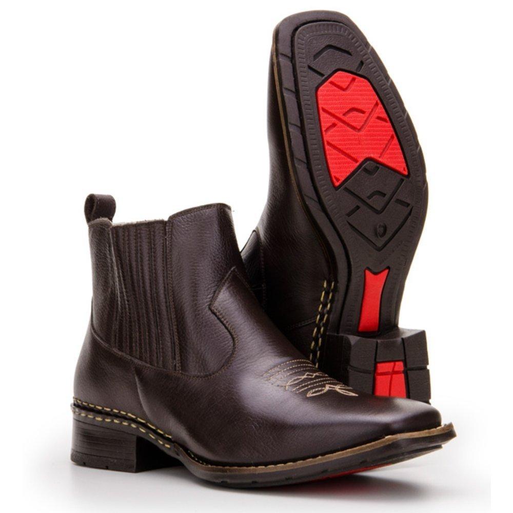 2ed8f138e178e Bota Texana Country Capelli Boots Couro com Solado em Borracha Masculina -  Compre Agora