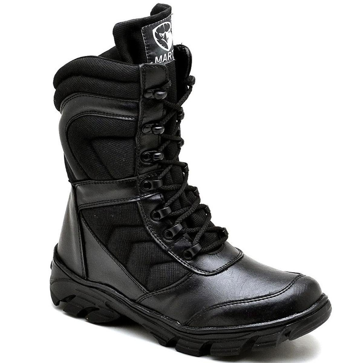 Preto Bota Franca Top Bota Top Militar Shoes w181YSnPx