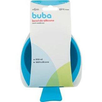 Bowl De Silicone Com Ventosa - Azul Buba Baby
