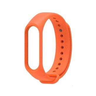 Bracelete de silicone para pulseira inteligente Mi  band 3 XM, Laranja XM270LAR